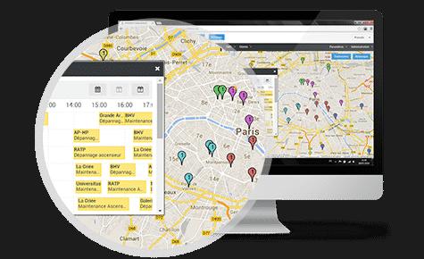 Kartenunterstützte Planung und Routenoptimierung
